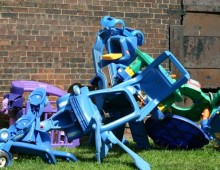 Toy sculpture, Blue Section, 2004
