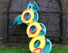 Toy sculpture, Aqua, Yellow-Form, 2004
